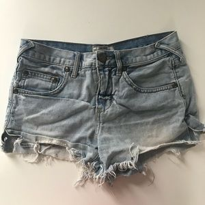 Size 24 Free People Denim Cutoffs
